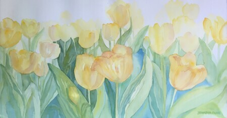 ::SOLD:: Breezy Tulips